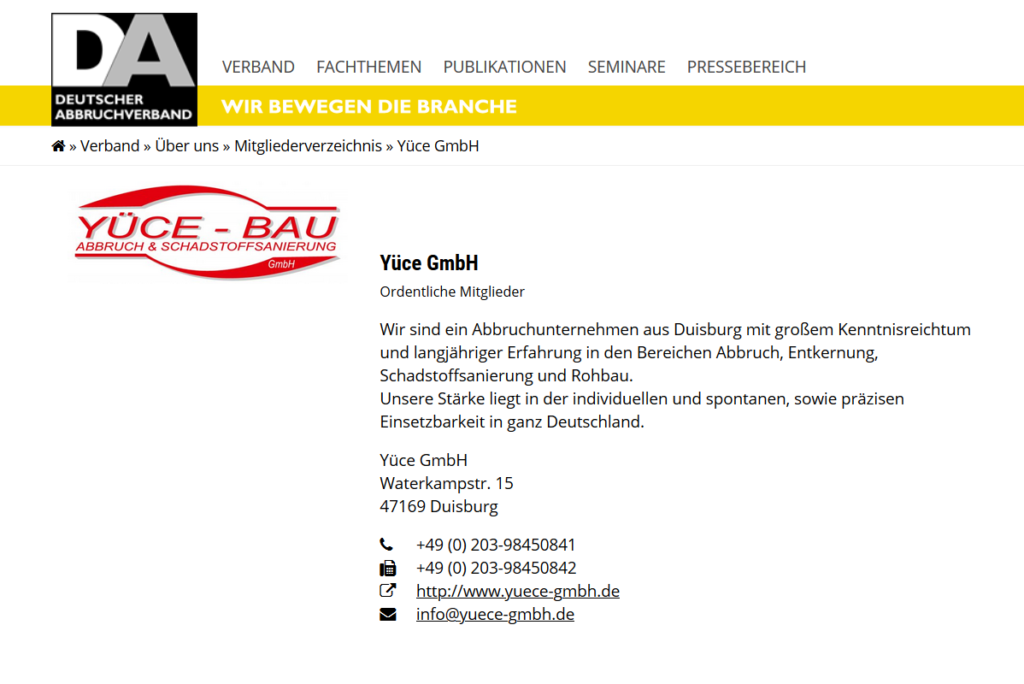 Abbruchunternehmen Abrissunternehmen NRW